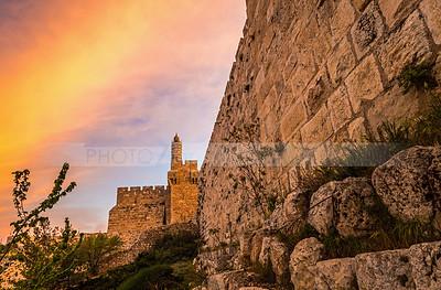 Tower of David at sunrise
