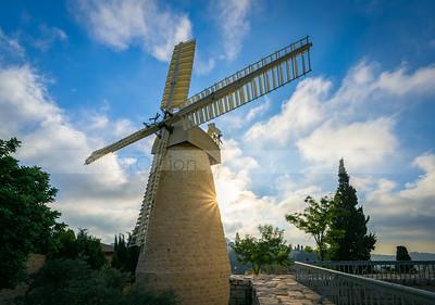 Montefiore Windmill at Yemin Moshe, Jerusalem