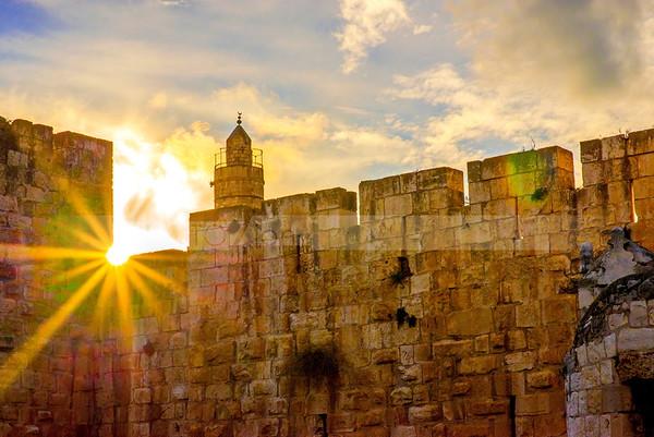 Sunburst through the walls