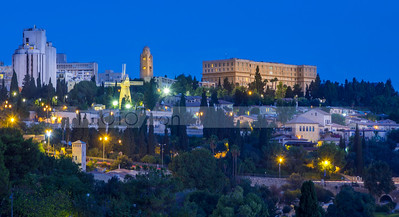 Mishkenot Shaananim and Yemin Moshe Windmill; Jerusalem Israel