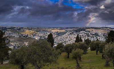 Rainbow over Jerusalem
