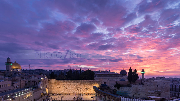 Western Wall at sunrise, Jerusalem