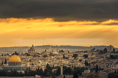 Dramatic Jerusalem Sunset