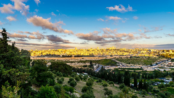 Jerusalem of Gold - sunrise over the Old City