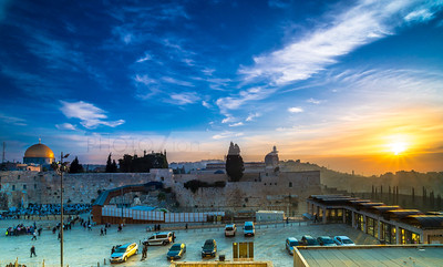 Sunrise at the Temple Mount