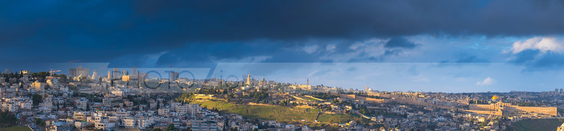 Panorama of Jerusalem after a storm