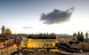 Single cloud  over the Western Wall