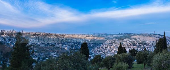 Beautiful panorama of Jerusalem