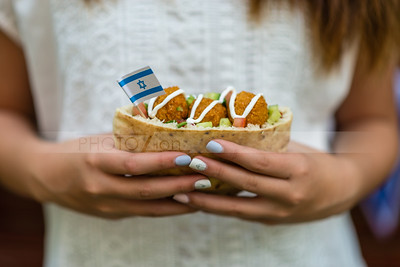 Pita with falafel; Israel's Independence Day
