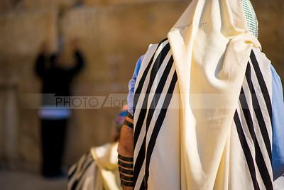 Man praying at the Western Wall