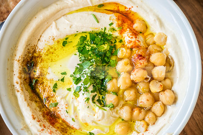 Traditional Middle Eastern Hummus