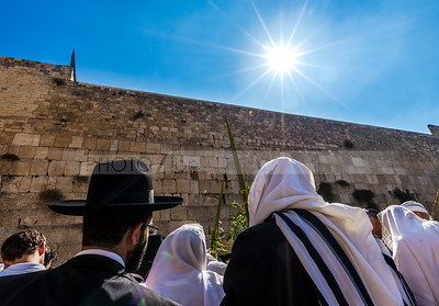 Sukkot prayers at the Western Wall