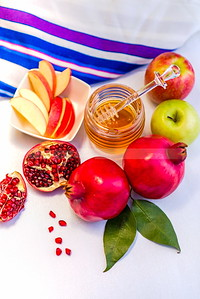 Rosh HaShana emblems - Jewish New Year