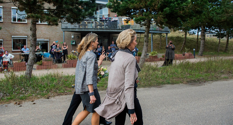 Her Majesty Queen Máxima attends the MS-centre of expertise of health care provider New Unique in Zandvoort.