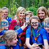Queen Maxima visits girls scouting