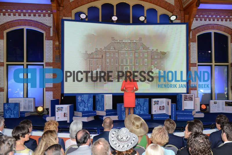 King Willem-Alexander and Queen Maxima at the presentation of the Dreambook