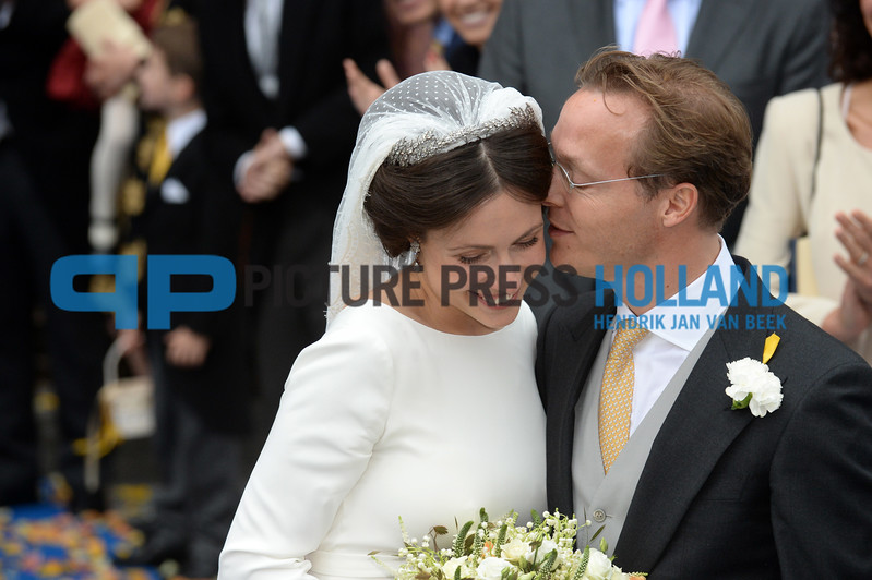 Prince Jaime de Bournbon de Parme and Viktoria Cservanyak married today at the Lieve Vrouwe ten Hemelopneming church in Apeldoorn. The ceremony was attended by the Dutch royal family and many others. Prince Jaime is the son of princess Irene and prince Hugo Carlos de Bourbon de Parme. Victoria is also known as Victoria Delano. Photo Hendrik Jan van Beek