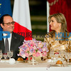 French president Francois Hollande host an state banquet to honor King Willem-Alexander and Queen Maxima of The Netherlands at the Elysee Palace in Paris, France, 10 March 2016. The King and the Queen are in France for an state visit 10 and 11 March. Photo: Robin Utrecht