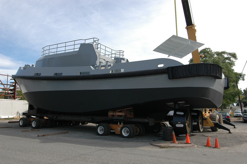 65' x 27'.... one of a pair being built for the Kuwait Navy<br /> <br /> Steel hull...aluminum super structure and upper house
