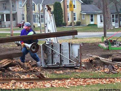 Railroad - Illinois Central Track Removal 1999