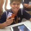 Middle School Rubik's Cube lunchtime Tournament.<br /> <br /> For 4th period lunch: Our Winner was: Salvatore Pizzi (7th grade) with a winning time of 42 seconds (best tournament time was 38 sec.)<br /> <br /> For 5th period lunch: Our Winner was: Juanchi Tejera (8th grade) with a winning time of 40.27 seconds<br /> <br /> Also, 10th grader Brandon Vila showcased his talents with a finishing time of 23.96 seconds.<br /> <br /> Honorable mentions for making it to the finals go to: 6th grader, Alejandro Lopez, 7th grader, Luis Gonzalez-Pella, 7th grader Adrian Fernandez, 7th grader David Gonzalez and 8th grader Martin Chang.<br /> <br /> Most importantly we had a great time and built lots of Middle School community spirit and allowed some students an opportunity to show off their skills!<br /> <br /> Thank you to all of the 7th and 8th grade Ambassadors who planned and organized this event.