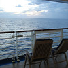 Sunset on promenade deck