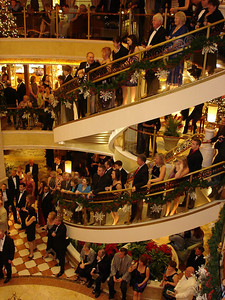 Crowds on stairs