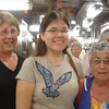 Joan, me, and Maxine on Galley tour