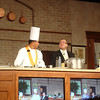 Cooking demo with head chef Joel Directo and Maitre D' Jose
