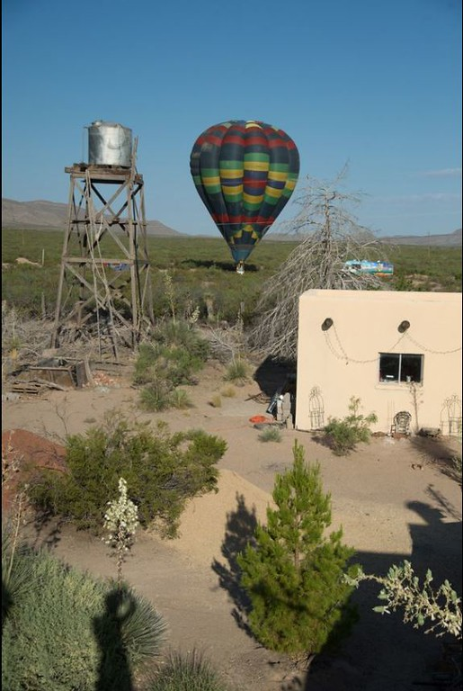 Balloon landing just west of our property.