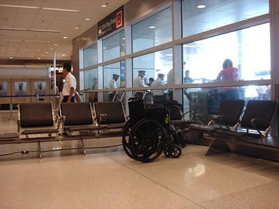 Waiting area at Miami International airport
