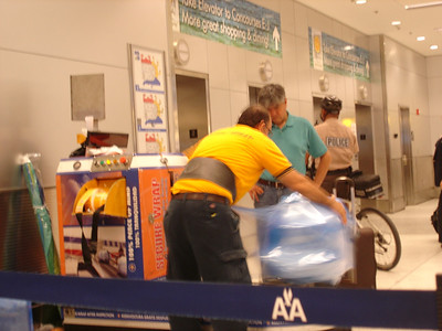 Honestly, this was mesmerizing, the way they spun the luggage and wrapped it