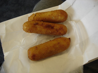 Croquetas from Versailles at the airport. I feel so bad I cheated on La Carreta.