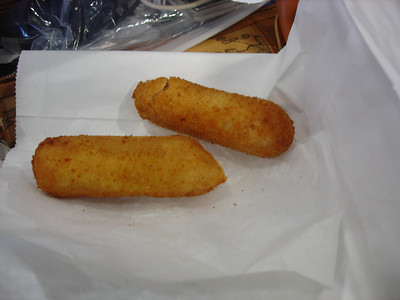 In retrospect, I probably wouldn't have chosen ham croquetas for my last American meal if I knew exactly how much ham I would consume for breakfast, lunch, and dinner in Spain. Now I never want to see ham again.