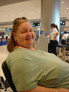 Mom's thought bubble: I'm so happy I'm going to Spain!! Cruise? What cruise? We're going on a cruise??