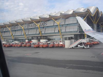 Bienvenidos de Madrid-Barajas indeed.