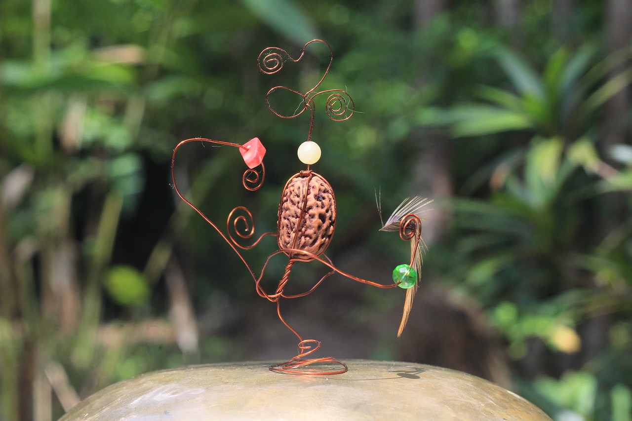 "Dancing RudrakshaRupin with ""Kha"" & feather"