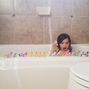 Bath with the Little Ponies.