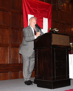 2013_10-05 Rugby HBS 50 Sat Din Harvard Club II - Jimmy Johnston (Founder) at the Podium 9925