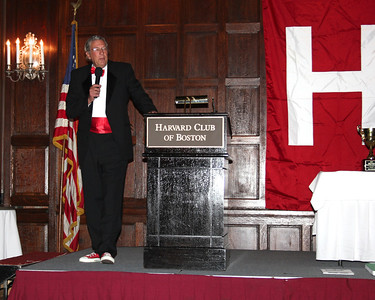 """2013_10-05 Rugby HBS 50 Sat Din Harvard Club II - Chuck Hill at the Podium """"They are Tearing Down the Bar at the Harvard Busines School"""" 9953"""