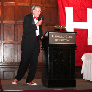 """2013_10-05 Rugby HBS 50 Sat Din Harvard Club II - Chuck Hill at the Podium """"They are Tearing Down the Bar at the Harvard Busines School"""" 9961"""