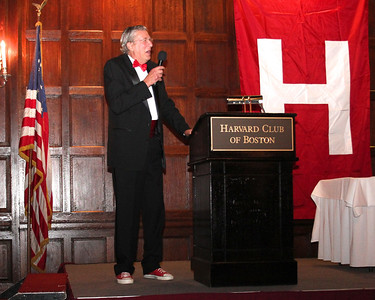 """2013_10-05 Rugby HBS 50 Sat Din Harvard Club II - Chuck Hill at the Podium """"They are Tearing Down the Bar at the Harvard Busines School"""" 9962"""
