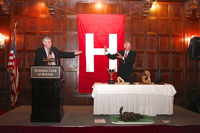 "2013_10-05 Rugby HBS 50 Sat Din Harvard Club II - Steve Watson, Mike Rush (HBSOB President) ""Thank you Mike"" 9946"