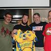 Axe-bassadors gave Coach Keeley a jersey.