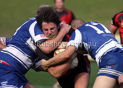 Action from the Illawarra Carlton Rugby League Reserve Grade Qualifying Final between Thirroul and Collegians at WIN Stadium on Sunday the 16th August 2009. The match was won by Thirroul 14-12 - PHOTO - ROB SHEELEY/WWW.ROBSHOTS.COM.AU