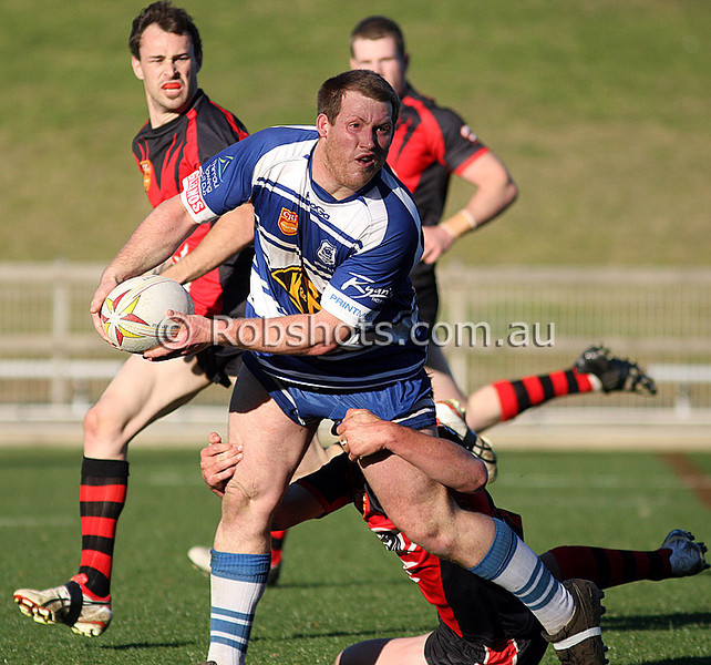 Action from the Illawarra Carlton Rugby League Rd 15 clash between Collegians and Thirroul at WIN Stadium on Saturday the 1st August 2009, the match was won by Thirroul 28-14 - PHOTO - ROB SHEELEY/WWW.ROBSHOTS.COM.AU