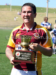 Images from the Carlton Illawarra Rugby League Under 18's Grand Final between Shellharbour and Thirroul at WIN Stadium on Sunday September 6th 2009. The match was won by Shellharbour 20-10 [Photo: Rob Sheeley - www.robshots.com.au]