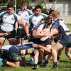 2017-01-21 Rugby PenGrn KOT - Var A - Luca Gillespie Brown surging through tacklers w Thomas Tameilau Nio Mafi and Allan Hogue