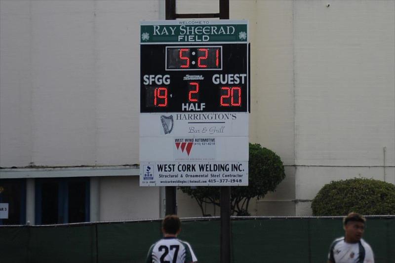 2013_03-02 Rugby Var PenGrn vs SFGG Final Score on scoreboard 03-02-13
