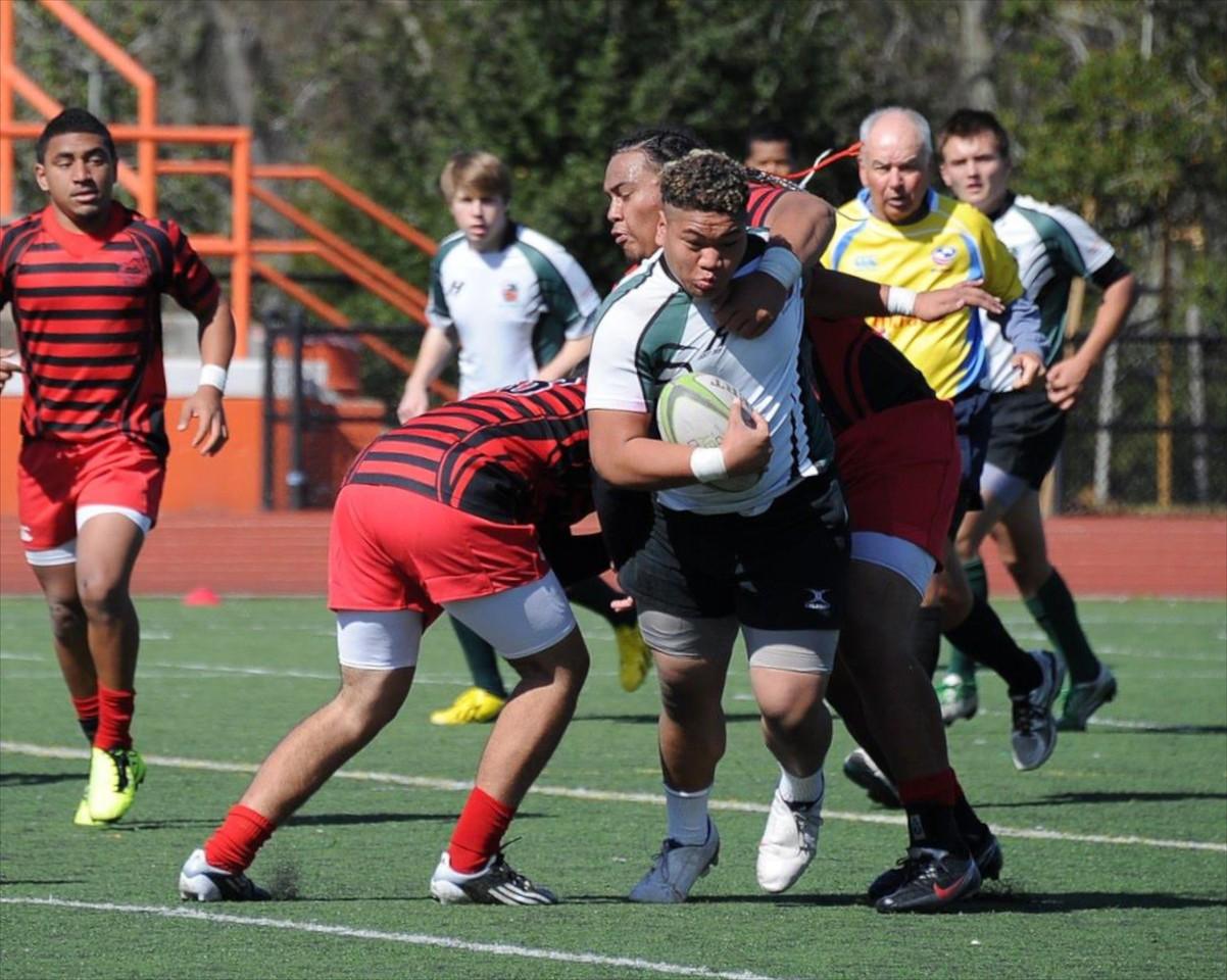 2013_02-23 Rugby PenGrn vs EPA Var 25-14 George Fifita run into traffic 02-23-13